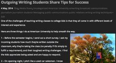Outgoing writing students share tips for success with next class