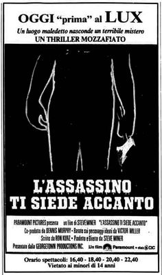 """L'assassino ti siede accanto"" (Friday the 13th Part 2, 1981) di Steve Miner, con Betsy Palmer e Amy Steel. Italian release: September 3rd, 1981 #MoviePosters #HorrorMovies #Venerdi13 #FridayThe13t..."