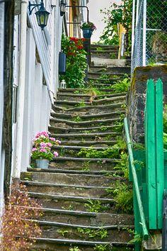 Steps in Bergen, Norway
