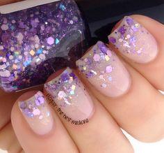 Glitterfied Nails   Sugarplum