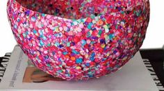 Confetti Ballon Bowl | 36 DIY Projects For Teenagers