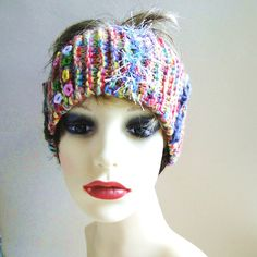 Lovely soft head band, hand knitted with a multitude of carnival colours. Great for the festival season! Modern Hippie, Handmade Headbands, Unique Cards, Knitted Headband, Hand Knitting, Carnival, Greeting Cards, Crochet Hats, Colours