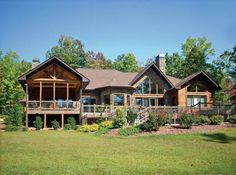 Single Level Log House. Oh My Gosh :)