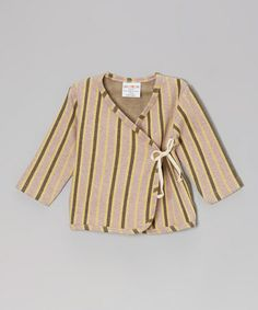 Look at this #zulilyfind! Rose Jacquard Stripe Organic Wrap Top - Infant by Sckoon Organics #zulilyfinds