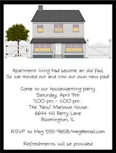 Housewarming Party Invitations Misc Occasions Housewarming party