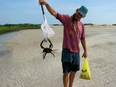 Workin' on fixin's for a crab boil.  Blue crab and a bag of clams...yum!