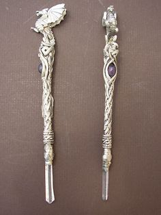 Dragon Wand - Lead Free Pewter