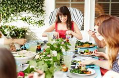 Exclusive: Tour Lea Michele's Inspiring Backyard Transformation // outdoor entertaining, al fresco entertaining, spring tablescape, spring garland, outdoor dinner party