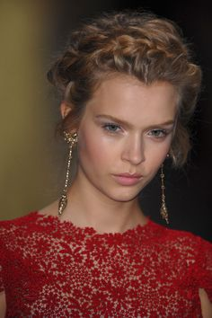 Valentino Runway Hair and Makeup