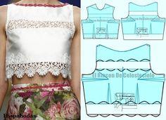 El Rincón de Celestecielo: Tipi di scollature. Barca scollatura, occhiello o il vassoio. design Convention