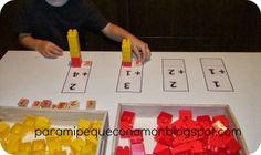 Sumas con las piezas de lego Legos, Lego Math, Teaching Kids, Homeschool, Classroom, Education, Games, Mario, Mental Calculation
