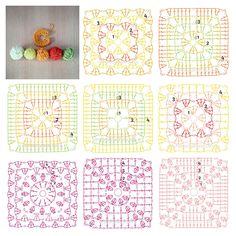 All Free Crochet, Crochet Cross, Diy Crochet, Cross Stitch Patterns, Knitting Patterns, Crochet Patterns, Granny Square Crochet Pattern, Crochet Stitches, Free Pattern