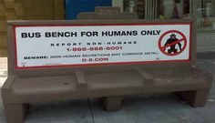District 9 – Humans Only - from 30 Clever Examples of Park Bench Advertising Campaigns