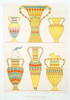 Surreal Artwork, Cool Artwork, Life In Ancient Egypt, Kemet Egypt, Egypt Art, Egyptian Symbols, Ancient Mysteries, New York Public Library, Vases