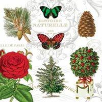 2205 Servilleta decorada Navidad