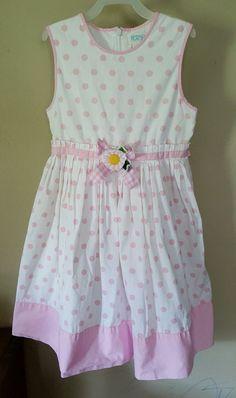 The children's place girls 8 pink polka dot sleeveless long dress #TheChildrensPlace #DressyHoliday