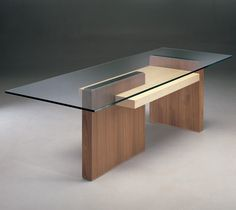Dining Table-Cartesia By: Resource Furniture Metal Furniture, Unique Furniture, Home Decor Furniture, Table Furniture, Furniture Design, Glass Dining Table, Wood Table, Dining Tables, Modern Coffee Tables