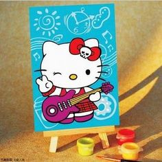 HELLO KITTY digital oil painting | HELLO KITTY paint by numbers - $5.99USD