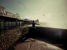 Brighton pier:) And i can fly :P