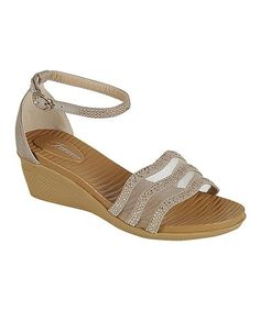 Loving this Taupe Shimmer Extreme Wedge on #zulily! #zulilyfinds