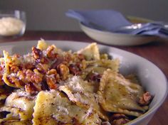 Food Network invites you to try this Ravioli with Balsamic Brown Butter recipe