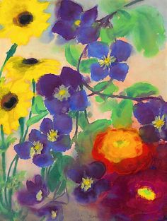 It's Spring time in Provence, so I thought this would be appropriate. (Emil Nolde (1867-1956), Blumen)