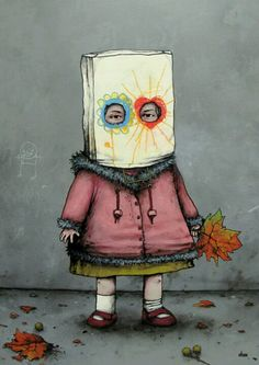 bag head - street art by Dran Murals Street Art, 3d Street Art, Amazing Street Art, Street Art Graffiti, Fantastic Art, Street Artists, Banksy, Mandala Art, Pop Art