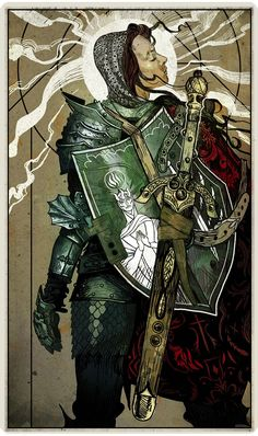 Tarot card for Belinda Darrow: The Templar - Dragon Age: Inquisition