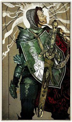 Tarot card for Belinda Darrow: The Templar - Dragon Age: Inquisition