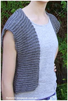 FitzBirch Crafts: Garter Stitch Beginner Vest free pattern