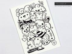 random doodle drawing easy doodles simple piccandle deviantart characters kawaii sketch draw drawings cartoon sketches stuff character doodling subscribers 25k