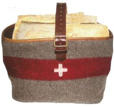 Swiss Army Blankt Basket for wood or magazines