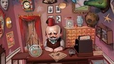 r169_457x256_8307_Mr_Chudderley_s_Shop_of_Curiosities_2d_illustration_skulls_desk_crocodile_toys_masks_curiosity_shop_curiosities_swordfish_m.jpg (457×256)