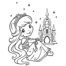 20 Free Printable Strawberry Shortcake Coloring Pages The