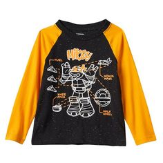 Toddler Boy Teenage Mutant Ninja Turtles Michelangelo Diagram Graphic Raglan Long Sleeve Tee, Size: