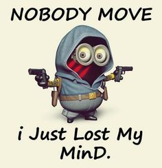 Find images and videos about minions and minion funny on We Heart It - the app to get lost in what you love. Funny Minion Memes, Minions Quotes, Funny Jokes, Hilarious, Minion Humor, Funny Shit, Funny Cute, Funny Stuff, Random Stuff