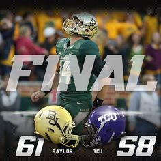 Baylor Football Postgame Score Graphic
