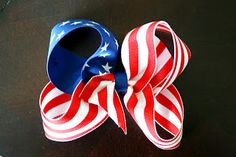My name is Momma: Red, White and CUTE (4th of July FLAG hair bow tutorial)