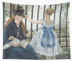 """Wall tapestry featuring Edouard Manet's """"The Railway"""" 1873 Painting 
