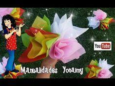 COMO DOBLAR PAPEL DE CHINA PARA ARREGLOS CON APARIENCIA DE PAPEL CREPE - YouTube Christmas Deco, Christmas Ornaments, Valentines Day Baskets, Tissue Paper Flowers, Candy Bouquet, Ideas Para Fiestas, Bookbinding, Handmade Crafts, Eat Cake