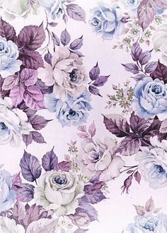 Flower Background Wallpaper, Paper Wallpaper, Flower Backgrounds, Wallpaper Backgrounds, Art Floral, Vintage Floral, Floral Prints, Decoupage Printables, Decoupage Vintage