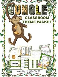 Jungle Classroom Theme Packet- Back to School $ repinned by teachingfriends on Back to School: READ NEW RULES