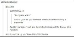 SuperWhoLock--> and if you'll look around you see the tiny particles of the merlin fandom hanging around