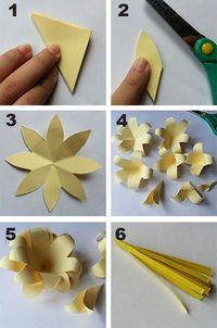 Use coloured card to make fun flowers Toilet Paper Flowers, Crepe Paper Flowers, Paper Roses, Diy Flowers, Diy Paper, Paper Crafts, Special Flowers, Paper Flower Tutorial, Flower Template