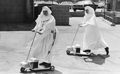 Nuns on scooters