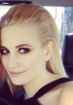 Pixie Lott's hair chic and slicked back