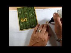 cardmaking video: Fine Tip Glue Pen ... how to use ... fun Halloween card too ...