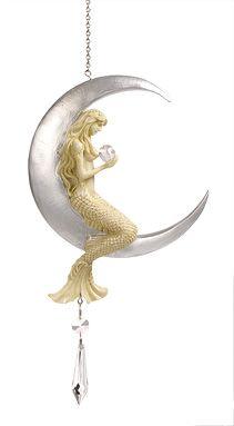 Statues & Figurines - Crescent Moon Mermaid