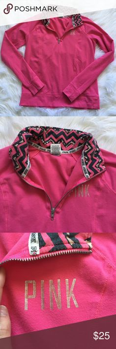 Victoria's Secret PINK Pullover Half Zip Sweater Excellent condition with no stains or rips! Light wear  and tons of life left! NO TRADES PLEASE & BUNDLES ARE DISCOUNTED PINK Victoria's Secret Sweaters
