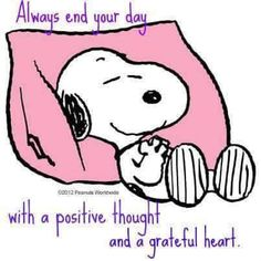 """Always end your day with a positive thought and a grateful heart."""